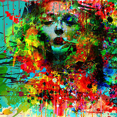 Abstract Portrait Print by Gary Grayson