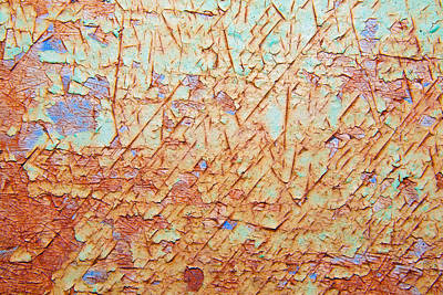 Abstract  Rust And Metal Series Print by Mark Weaver