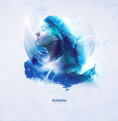 Goddess Digital Art Mixed Media - Acionna by Kiodour
