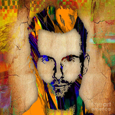 Adam Levine Maroon 5 Painting Print by Marvin Blaine