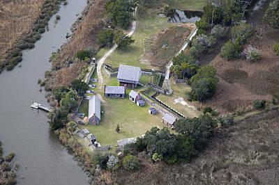 Georgia Plantation Photograph - Aerial Near Jekyll Island by Betsy C Knapp