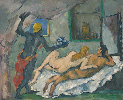 Afternoon In Naples Print by Paul Cezanne