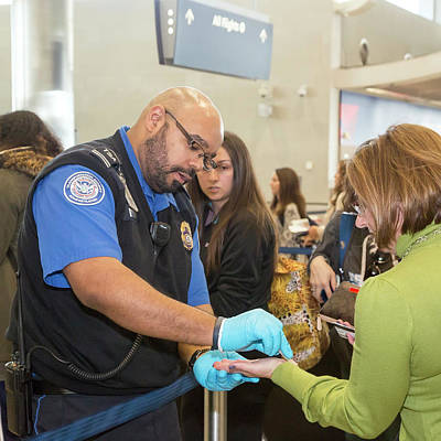 Airport Security Check Print by Jim West