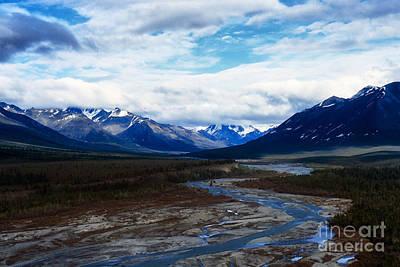 Alaska Mountain Range Print by Thomas R Fletcher