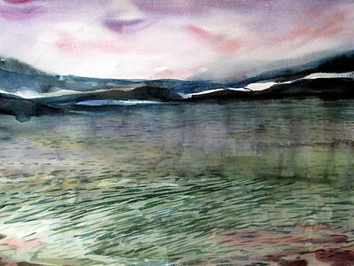 Alaskan Waters Print by Mindy Newman