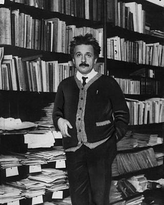 Professor Photograph - Albert Einstein by Retro Images Archive