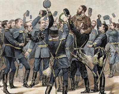 Cheers Photograph - Alexander Of Battenberg (1857-1893 by Prisma Archivo