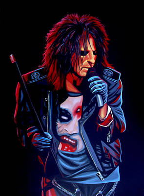 Heavy Metal Painting - Alice Cooper  by Paul Meijering