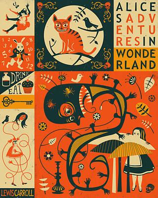 Arts In Wonderland Digital Art - Alice In Wonderland by Jazzberry Blue
