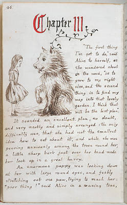 Alice's Adventures In Wonderland Print by British Library