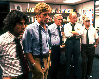 Dustin Hoffman Photograph - All The President's Men  by Silver Screen