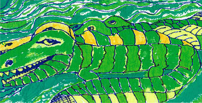Crocodile Mixed Media - Alligators by Don Koester