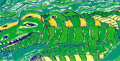 Alligator Mixed Media - Alligators by Don Koester