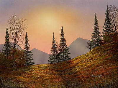 Spruce Painting - Alpine Sunset by Frank Wilson