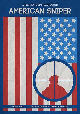 Uso Photograph - American Sniper Minimalist Movie Poster by Adam Asar