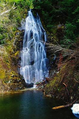 Snow Melt Photograph - An Angel In The Falls by Jeff Swan