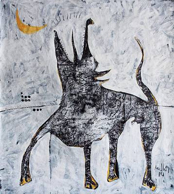 Painting - Animalia Canis No. 7  by Mark M  Mellon