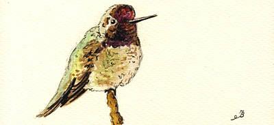 Hummingbird Painting - Anna S Hummingbird by Juan  Bosco