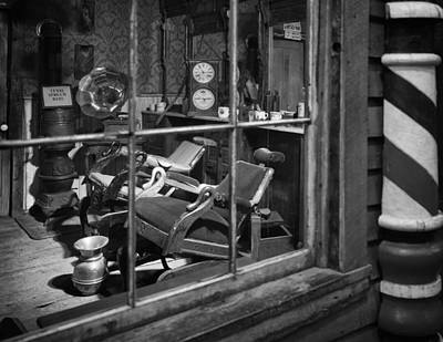 Old West Photograph - Antique Barbershop  by Mountain Dreams
