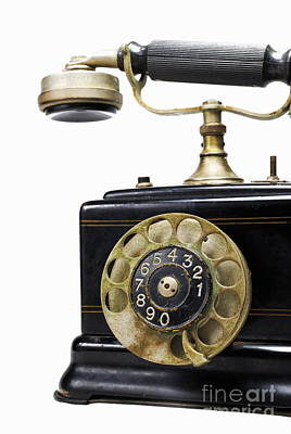 Antique Dial Telephone Print by Sami Sarkis