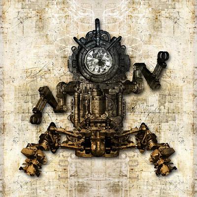 Antique Mechanical Figure Print by Diuno Ashlee