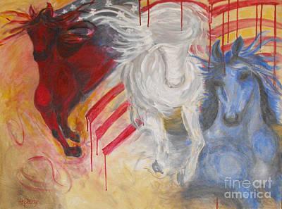Patriotism Painting - Anytime Anywhere by Criselda Kelley