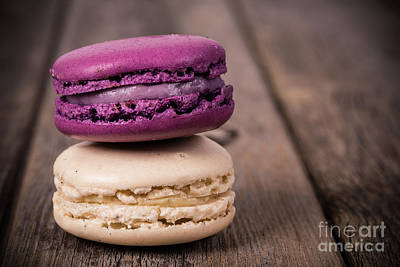 Mauve Photograph - Assorted Macaroons Vintage by Jane Rix