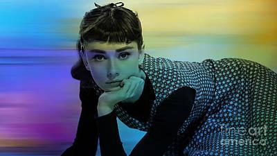 Audrey Hepburn Mixed Media - Audrey Hepburn Art by Marvin Blaine