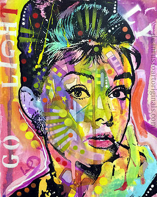 Painting - Audrey Hepburn by Dean Russo
