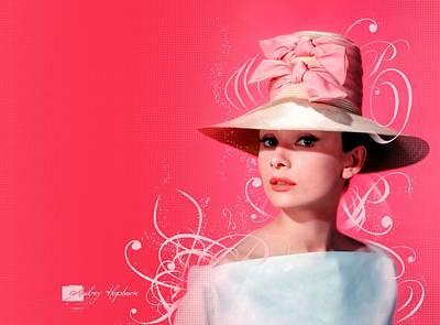 Audrey Hepburn Digital Art - Audrey Hepburn by Cool Canvas
