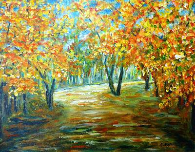 Tree Painting - Autumn by Cristina Stefan