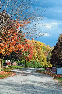 Cemetery Photograph - Autumn Winds by Steve Harrington