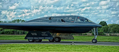 Of Indiana Photograph - B-2 Spirit Of Indiana At Raf Fairford by Mountain Dreams