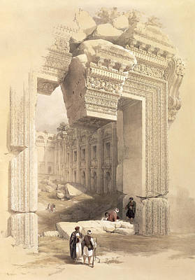 Temple Painting - Baalbec by David Roberts