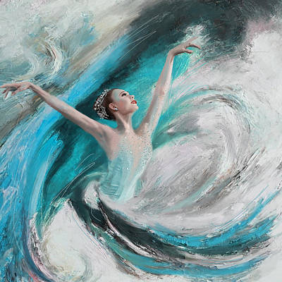 Ballet Painting - Ballerina  by Corporate Art Task Force