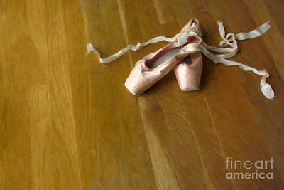 Dance Studio Photograph - Ballet Slippers by Diane Diederich
