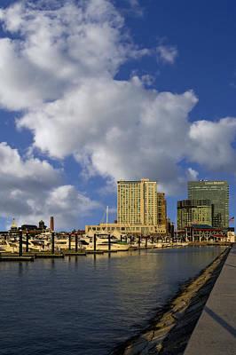 Baltimore Inner Harbor Skyline Marina Print by Susan Candelario