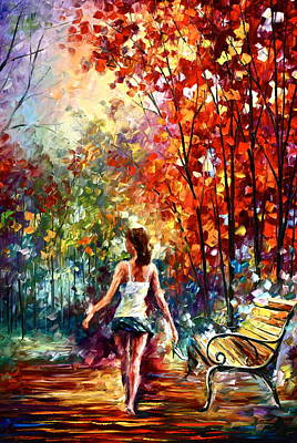 Barefooted Stroll Print by Leonid Afremov
