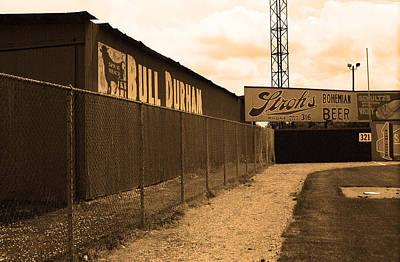 Baseball Field Bull Durham Sign Print by Frank Romeo