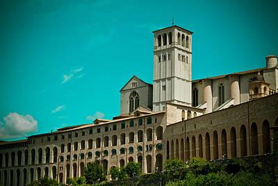 Basilica Of San Francesco Assisi  Print by Raimond Klavins