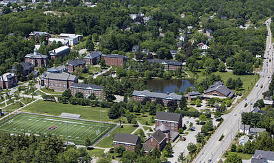 Bates College And Garcelon Field Print by Dave Cleaveland