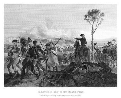 Musket Painting - Battle Of Bennington, 1777 by Granger