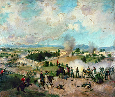 U.s Army Painting - Battle Of Molino Del Rey by Granger