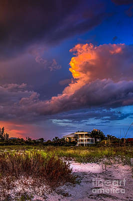 Oat Photograph - Beach Front Rain by Marvin Spates
