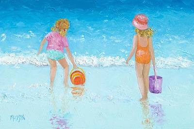 Girl Painting - At The Seaside by Jan Matson