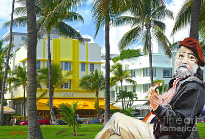 Musician Painting - Beat Of Miami by Judy Kay