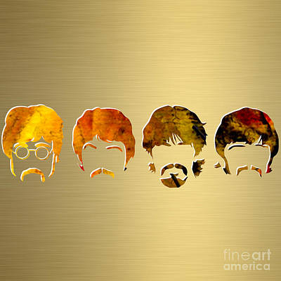 Beatles Mixed Media - Beatles Gold Series by Marvin Blaine