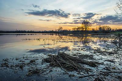 Peace Digital Art - Beautiful Sunset Reflecting In A Lake by Jaroslaw Grudzinski