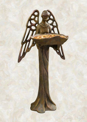 Old Objects Painting - Bird Feeder Angel by Danny Smythe