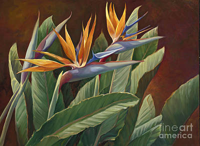 2 Birds Of Paradise Print by Laurie Hein